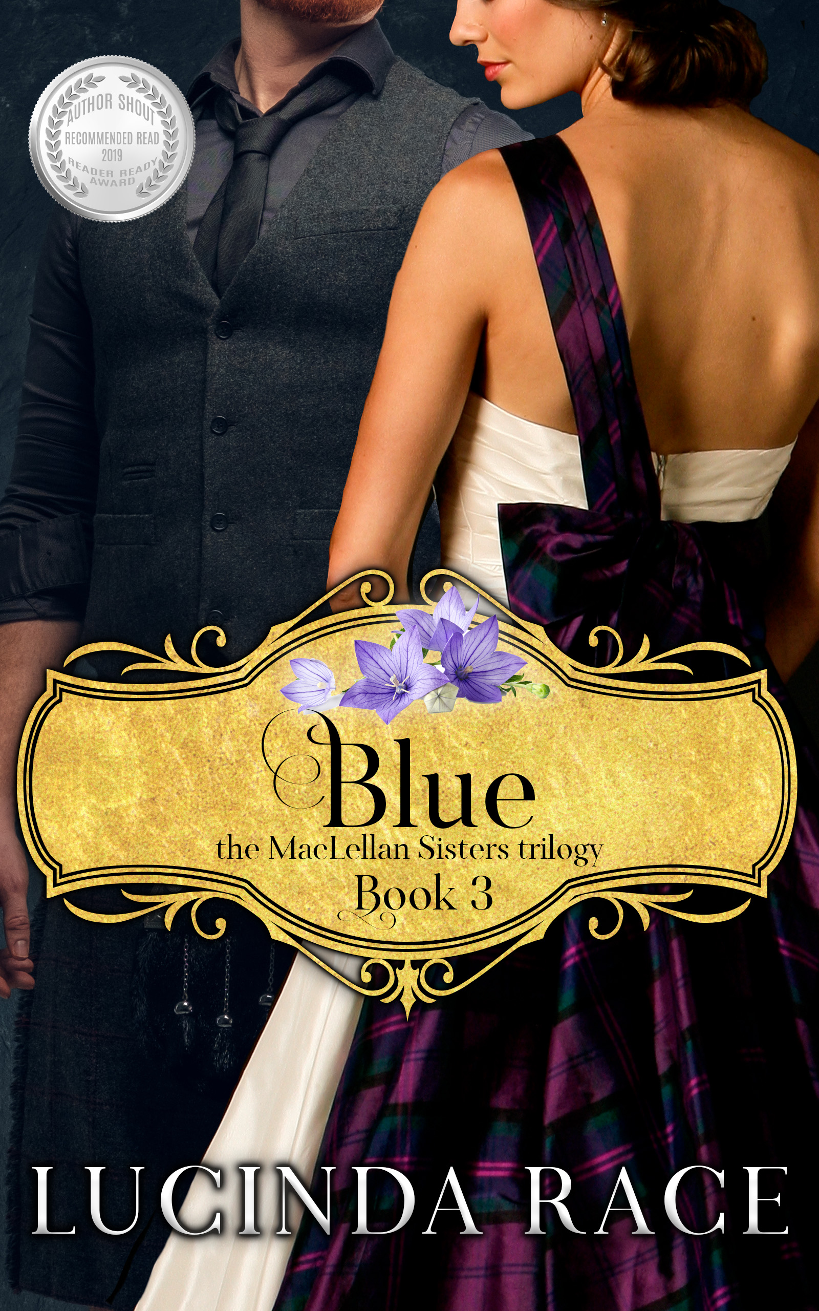 Blue ebook with award